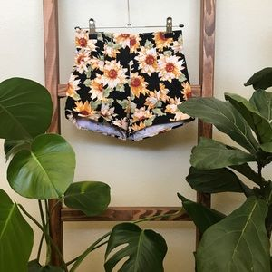LA Hearts sunflower shorts